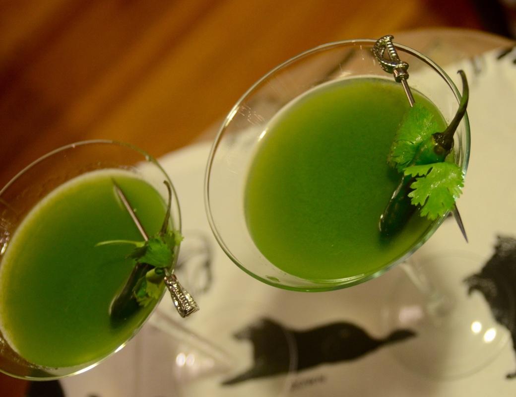 serrano cilantro martini
