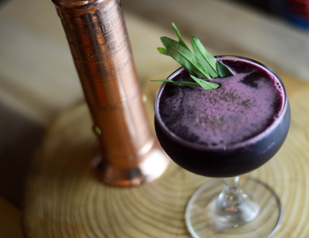 tarragon beet and pepper cocktail