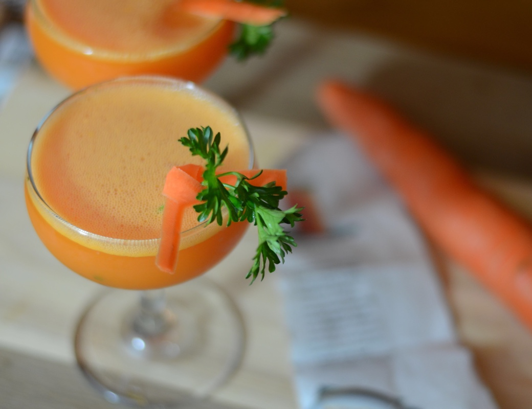carrot cocktail with tequila