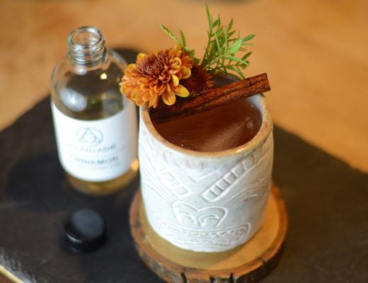Corn and Oil Tiki Cocktail with Rum
