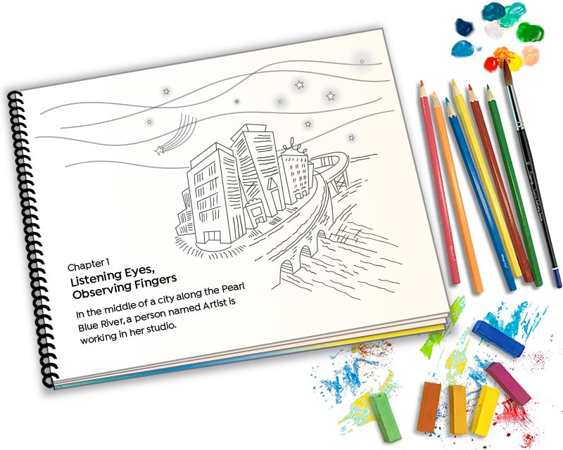 Genome story coloring book Lynn Fellman