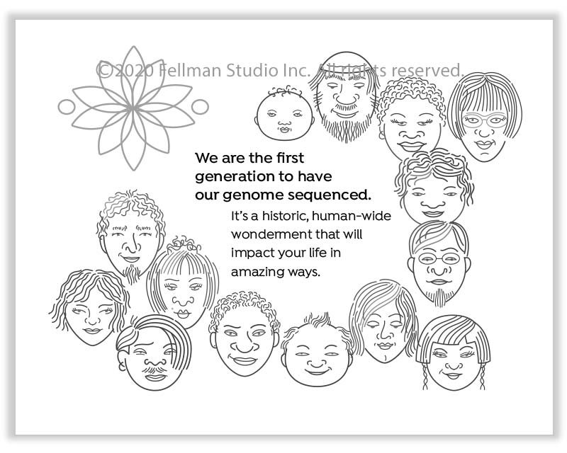 """We Want Our Genome Story"" coloring book"