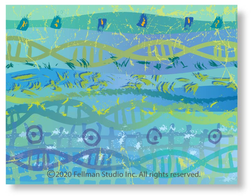 notecards note cards gifts group package unique artwork genes genomes DNA science