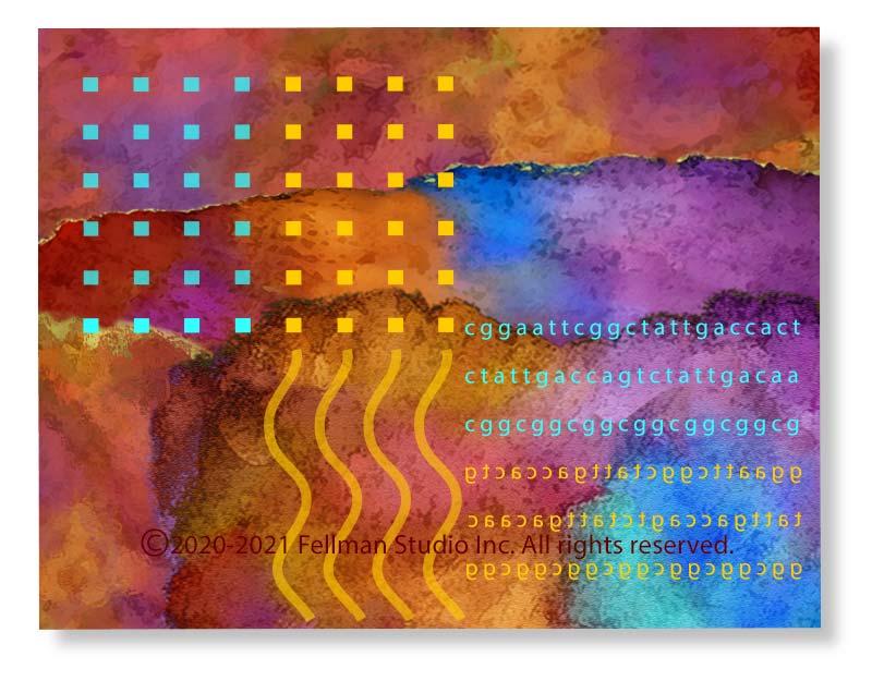 DNA-themed Dark Zone notecards