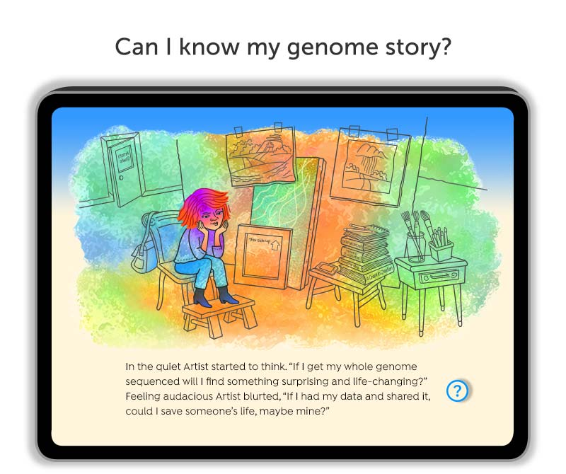 """""""We Want Our Genome Story"""" digital book"""