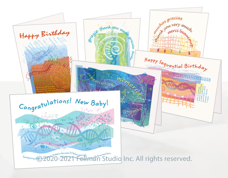 All-occasion DNA greeting cards