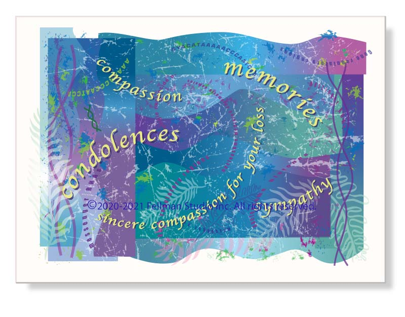DNA-themed sympathy greeting card