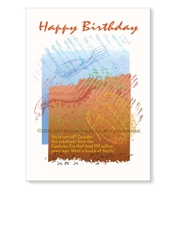 Happy Birthday DNA-themed greeting card