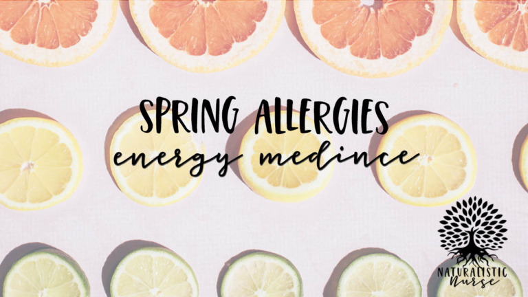 energy medicine spring allergies