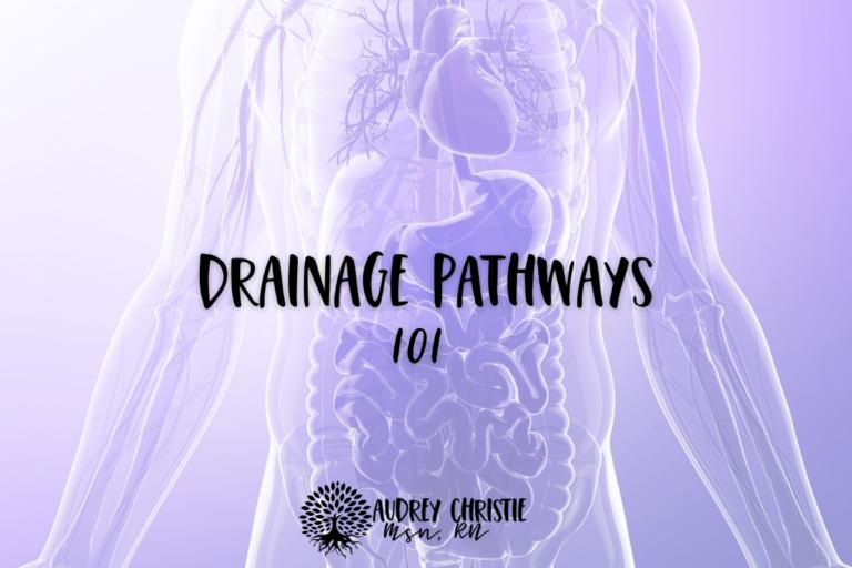drainage pathways