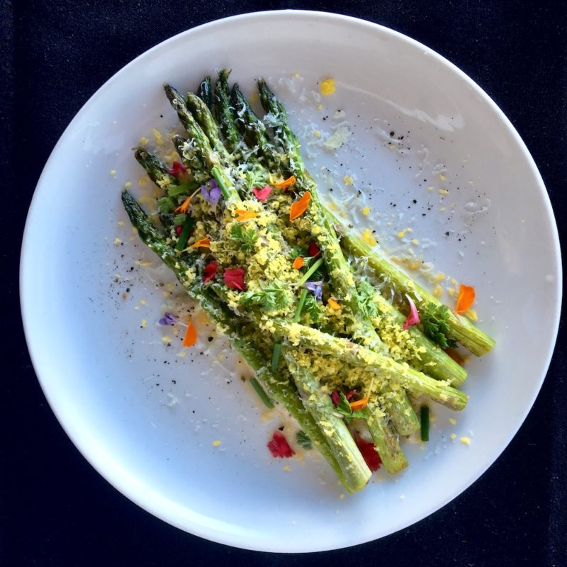 Palisade - Asparagus with Anchovy Aioli and Cured Egg Yolk
