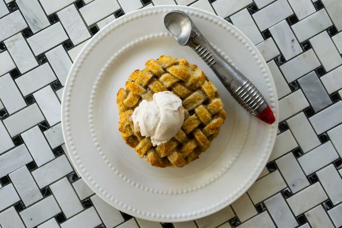 Peach Cobbler and Ice Cream at Jake's CREDIT Jesse Jensen