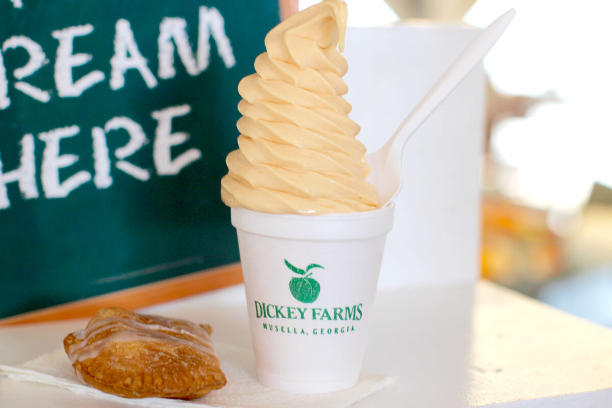 Peach Ice Cream and Hand Pies CREDIT Dickey Farms