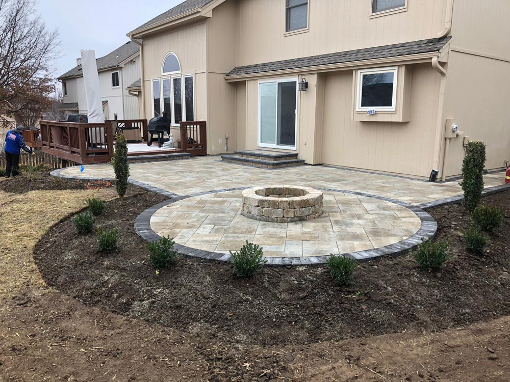 patio and deck with fire pit