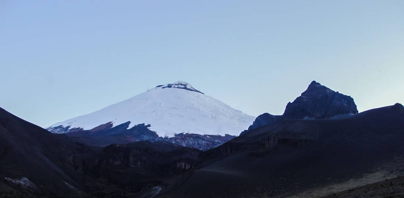 Cotopaxi south face and Morurco Peak