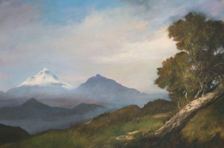 Carlos Ashton. Pintura de paisaje. Ecuador 2017