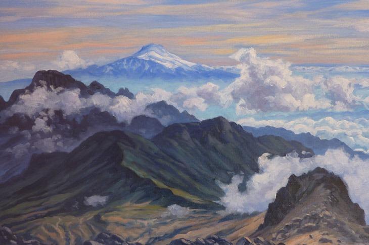"Jorge Obregón ""Cayambe"" painting, Mexico, 2009"