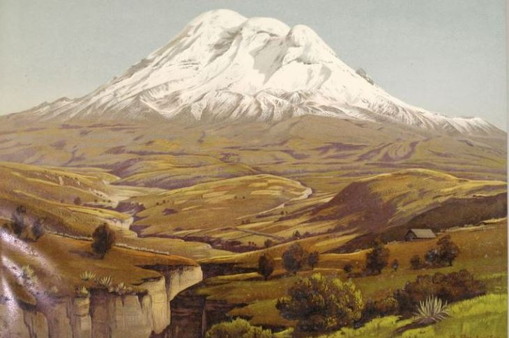 Chimborazo Volcano, by Rudolf RESCHREITER (1868-1938), German Painter