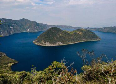 Hiking Trail around Cuicocha Lagoon