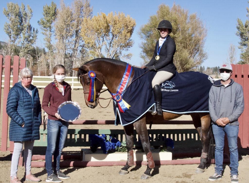 2020 SNHSA Jr/AM Medal winner, Aimee Lafayette and Gucci de Saint Anne
