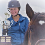 Katie Caldwell with the Shana Eriksson trophy