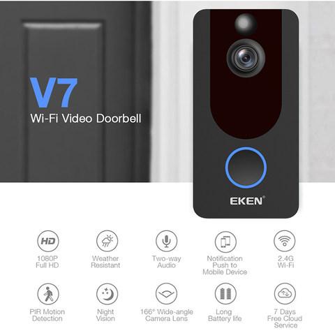 v7 Eken Wireless Wifi HD Smart Video Doorbell