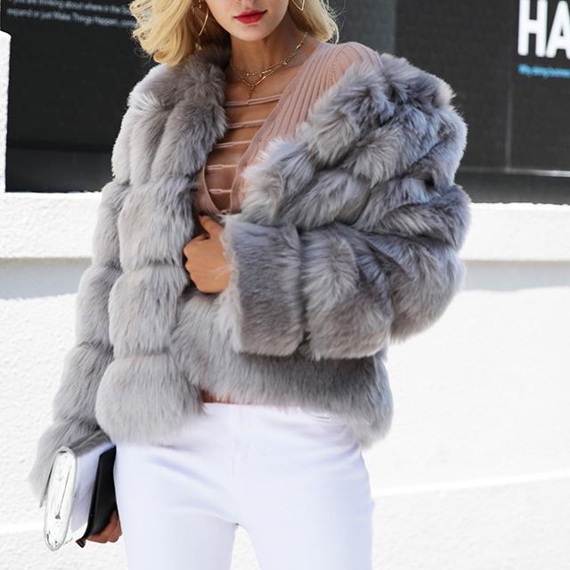 Women's Fluffy Fur Winter Coat
