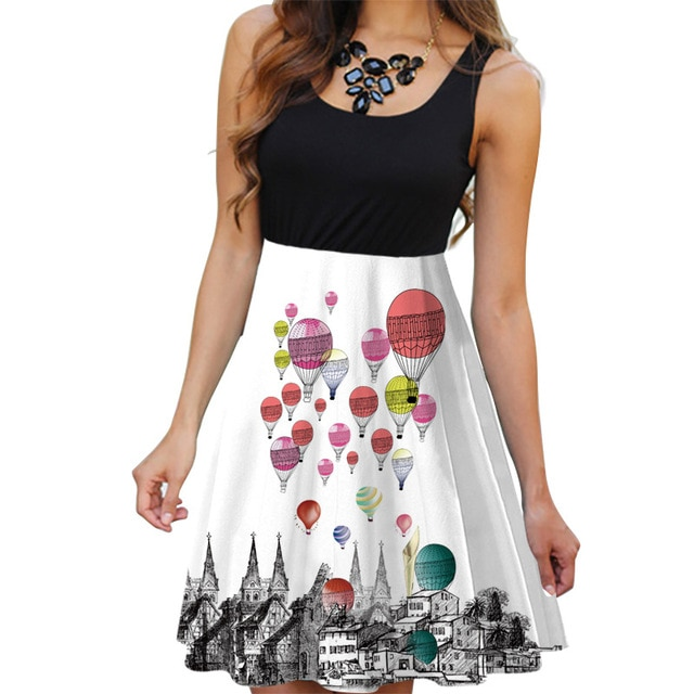 Balloon Party Dress For Summer
