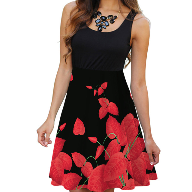 New Floral Printed Summer Dress