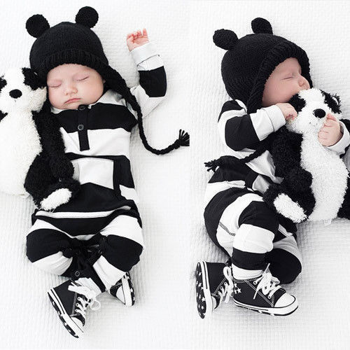 Newborn Baby Boy and Girls Striped Cotton Rompers