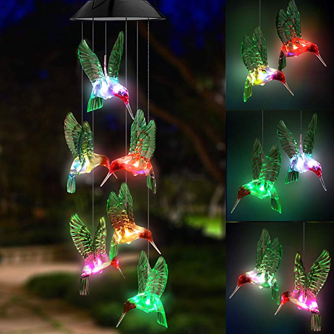LED Solar Lamp Wind Chime Outdoors
