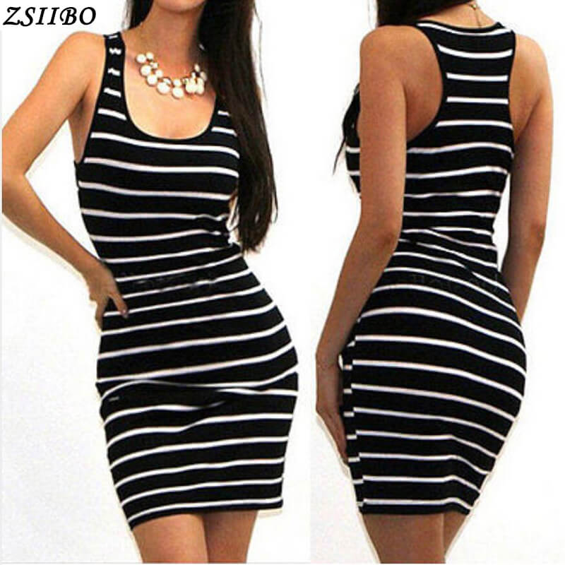 New 2020 Summer Casual Striped Dress