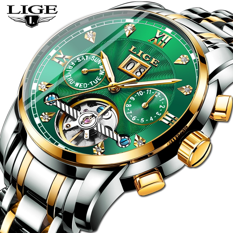 2020 LIGE Water Proof Luxury Mens Watches