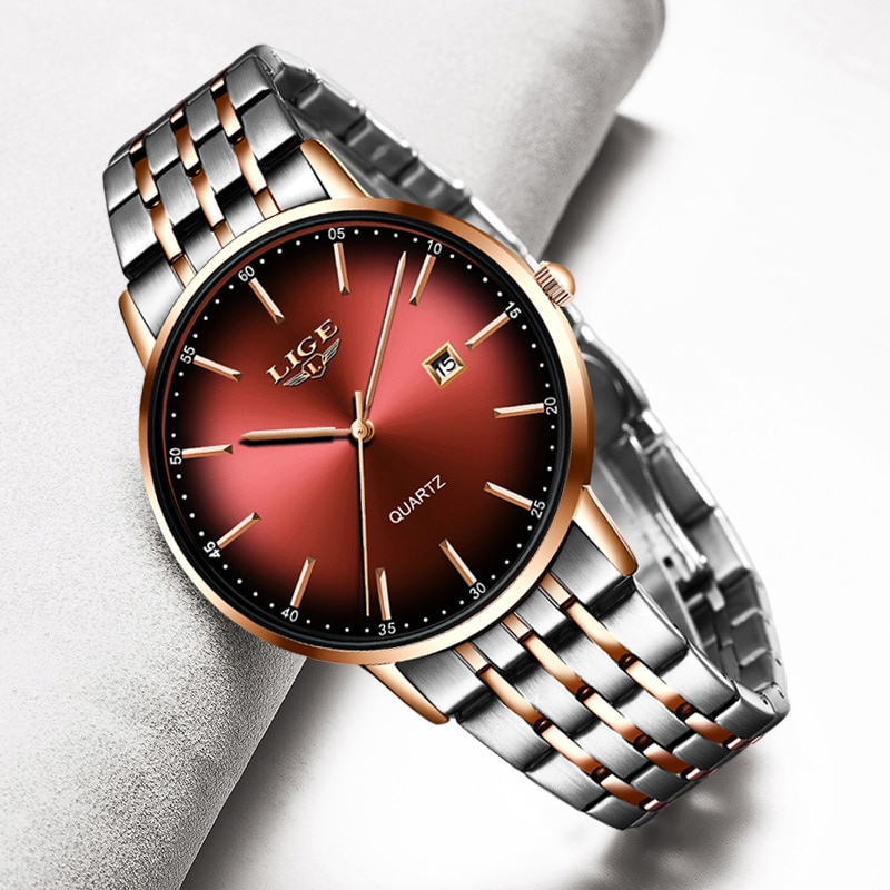 LIGE New 2020 Rose Gold Women's Watches
