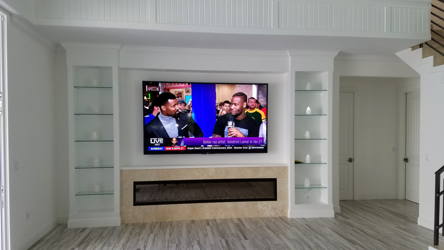 University Park Living Room 100 Inch Sony 4k Television