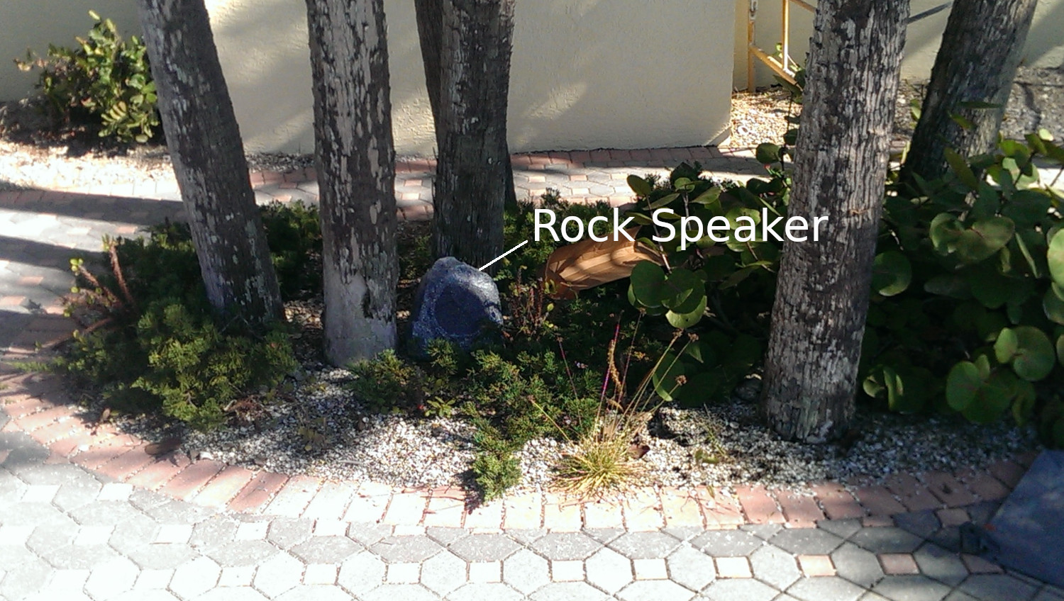 Rock Speaker by Rear Deck