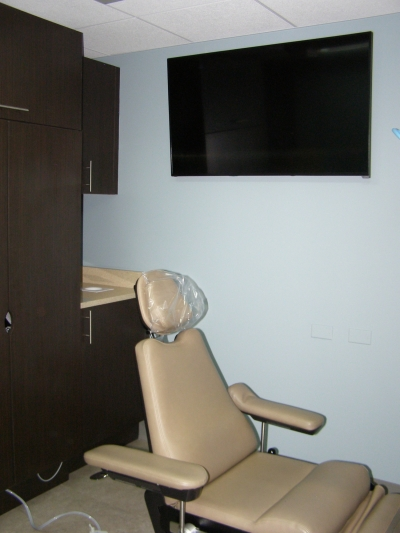 TV Monitor in Oral Surgeon Procedure Room