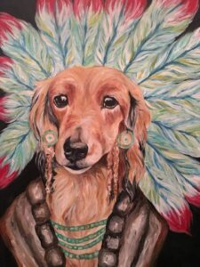 Indian Dog painting by Victoria Miceli.
