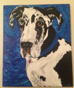 Great Dane portairet by The Laughing Crow Studio