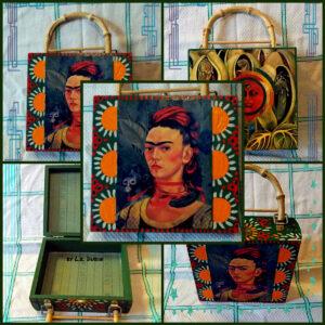Frida Kahlo Purse by LE Dubin