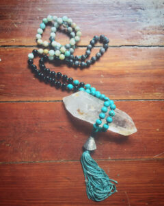 Prayer beads by the artist Christine Sargenti.