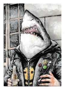 Street Shark Painting by James Constantine