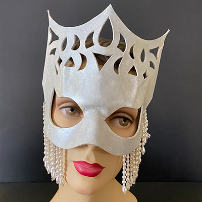 Leather and bead mask from Dante's Masquerade