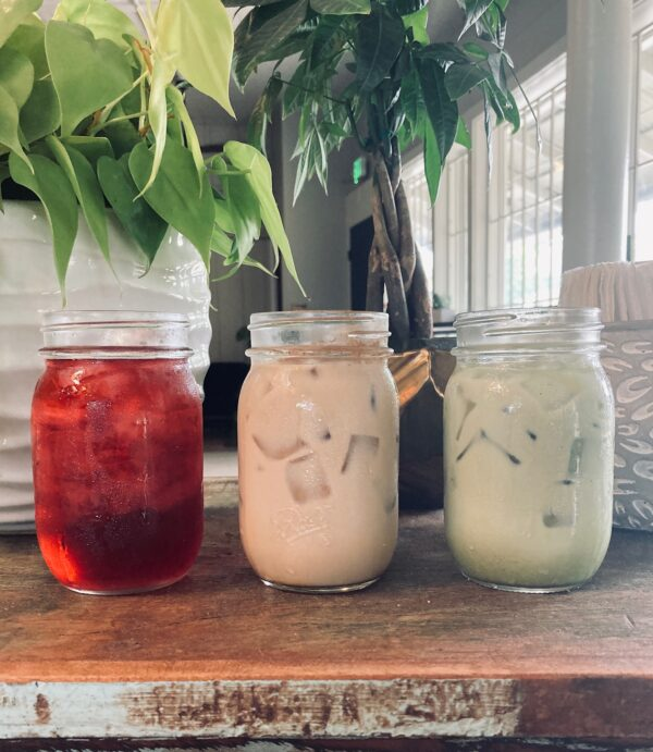 Iced Tea and Tea Lattes at Old Road Coffee
