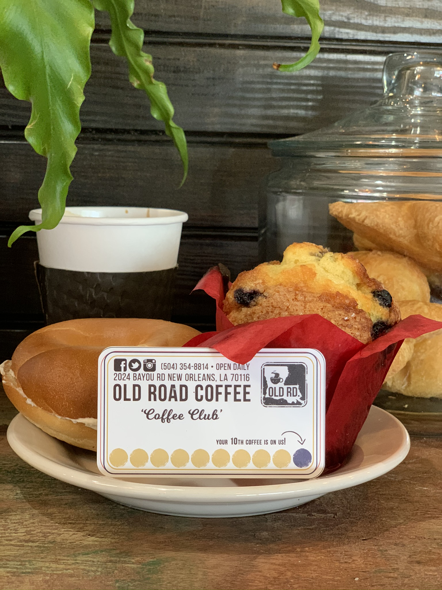 Loyalty card and pastries at Old Road Coffee Shop