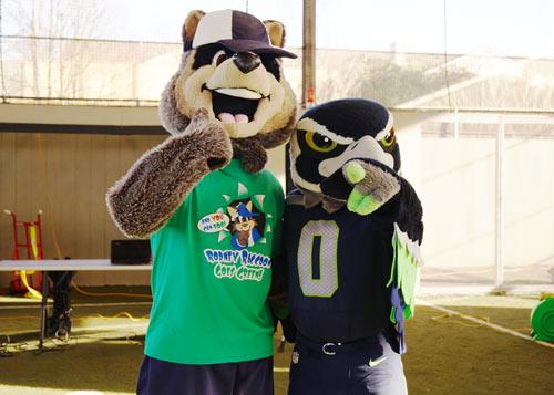 Blitz Seahawks Mascot Rodney Raccon WayOut Kids