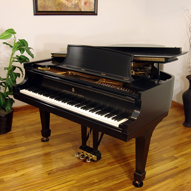 1964 Steinway model B Grand Piano in Ebony Traditional Style