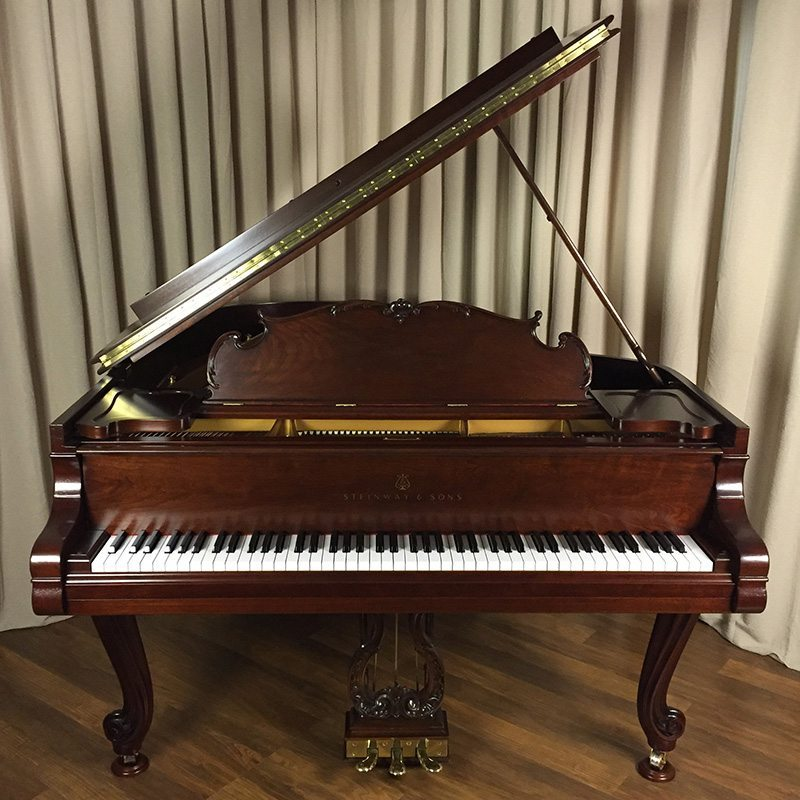 Steinway M Grand Piano Louis XV in Walnut Restored Refinished