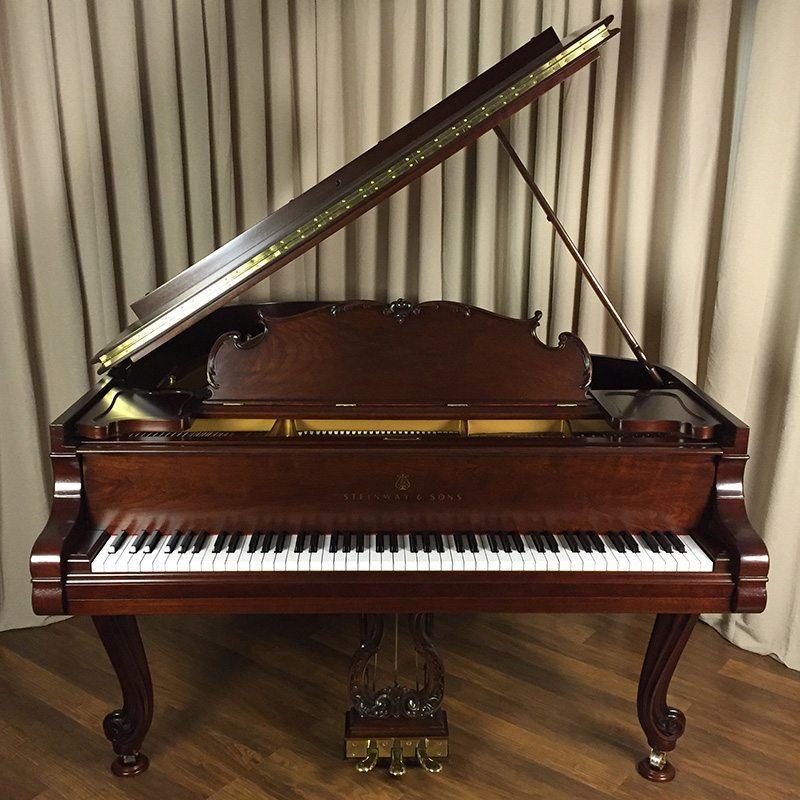 Steinway M Grand Piano Louis XV in Walnut Restored Refinished