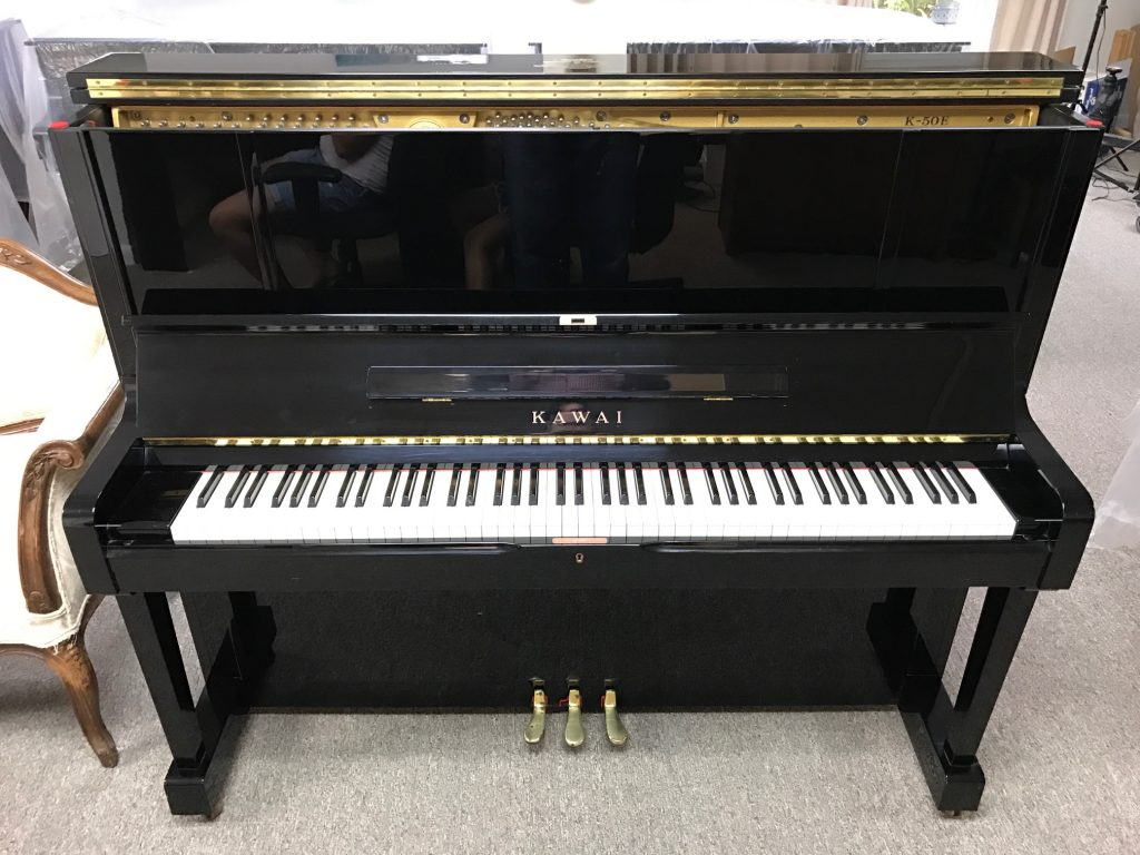 2001-Kawai-K-50-Upright-Piano-Piano - High Gloss Ebony